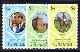 CI904 - GRENADA 1981 , Yvert N. 976/978 ***  MNH   (2380A)  Nozze Carlo Diana - Grenada (1974-...)