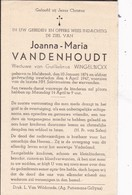 Melsbroek, 1947, Joanna Vandenhoudt, Wingelinckx - Devotion Images