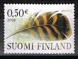 Finnland 2016, Michel# 2451 O  Additional Value Stamp: Feather Of A Wild Duck (Anas Platyrhynchos) - Gebraucht