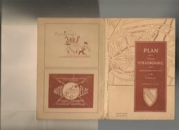 Vieux Papiers - Plan De La Ville De Strasbourg Avec Nomenclature Des Rues Et Des Tramways - Geographical Maps