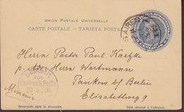 Argentina UPU Postal Stationery Ganzsache Entier 6 Centavos BUENOS AIRES 1905 PANKOW B. Berlin (Arr.) Germany - Ganzsachen