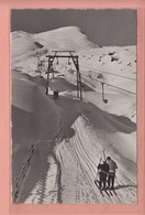 OLD POSTCARD - SWITZERLAND - SCHWEIZ - WINTERSPORT - SKI - LAUBERHORN SKILIFT - 1940'S - Winter Sports