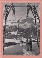 OUDE POSTKAART ZWITSERLAND  -  SCHWEIZ - WINTERSPORT - AROSA - SKI -  TSCHUGGEN SKILIFT - 1968 - GR Grisons