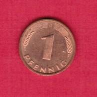 """GERMANY  1 PFENNIG 1984 """"D"""" (KM # 105) #5323 - [ 7] 1949-… : FRG - Fed. Rep. Germany"""