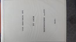 100ème Anniversaire De La Mort De Sir Rowland Hill En Timbres, Blocs Tous **.  A Saisir !!! - Briefmarken