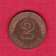 """GERMANY  2 PFENNIG 1981 """"J"""" (KM # 106a) #5324 - [ 7] 1949-… : FRG - Fed. Rep. Germany"""