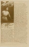 Real Photo Poema De Manuel Gutierrez Najera Serenata De Schubert . Con Hermosa Mujer . - Mexico
