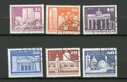 ALLEMAGNE ORIENTALE: CONSTRUCTIONS - N° Yvert  1502+1505+1507+1508+1510+1511 Obli. - [6] République Démocratique