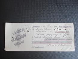 59 - Reçu - (A.Becker & J.Piedferme Verviers) - Achteraan Stempel Verviers - 1893-1900 Fine Barbe