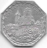 *notgeldnurnberg 20 Pfennig ND Zn 10406.12 Funfeckiger Turm - [ 2] 1871-1918 : Empire Allemand