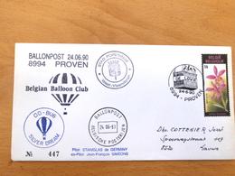 Ballonpost Proven 24/6/1990 - Airmail