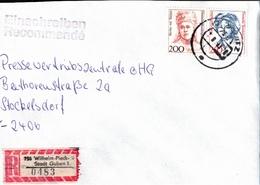 ! 2 Einschreiben 1993 Mit Alter Postleitzahl + DDR R-Zettel  Aus 7560 Wilhelm Pieck Stadt Guben - [7] Federal Republic