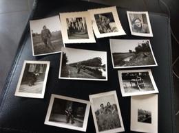 Lenden 11 Petites Photos Militaires Militaria Soldats 1945 - Cartes Postales