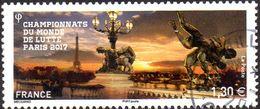 Oblitération Cachet à Date Sur Timbre De France N° 5165 - Championnats Du Monde De Lutte Paris - Used Stamps