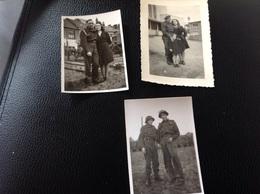 St Nicolas 3petites Photos Militaire Militaria Soldat 1945 - Cartes Postales