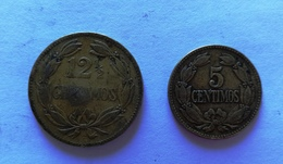 """*Lote De Dos (2) Monedas De Latón De Venezuela: Una """"Puya"""" ó 5 Céntimos 1944 Y Una  """"Locha"""" ó 12,5 Céntimos 1944. - Venezuela"""