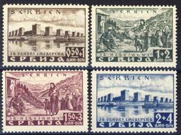 1941 - Occupazione Tedesca - Pro Inondati Di Smederevo - Nuovi Mlh 2 SG - Serbia