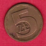 POLAND  5 ZLOTY 1976 (Y # 81.1) #5333 - Poland