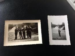 Cascade De Coo 2petites Photos Militaires Militaria Soldats - Cartes Postales
