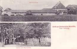 1277/ Gruss Aus Restauration Neumühle, Post Amberg Garten Mit Glasveranda 1915 - Amberg