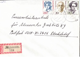 ! 1 Einschreiben 1992 Mit Alter Postleitzahl + DDR R-Zettel  Aus 7981 Finsterwalde - Briefe U. Dokumente