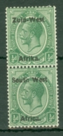 South West Africa: 1923   KGV   SG1   ½d     MH Pair - Zuidwest-Afrika (1923-1990)