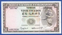 Timor - 20 Escudos, 1967 / 1002020 - UNC - Timor