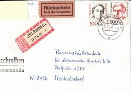 ! 5 Einschreiben 1992-1993 Mit Alter Postleitzahl + DDR R-Zettel  Aus Dresden, Kleinwolmsdorf, 8101,8021,8036 - Briefe U. Dokumente