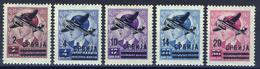 1942 - Occupazione Tedesca - Posta Aerea Francobolli Di Jugoslavia Soprastampati - Nuovi Mlh - Serbia
