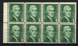 STATI UNITI - 1968 - PERSONALITA': THOMAS JEFFERSON - DA LIBRETTO - SENZA GOMMA - Stati Uniti