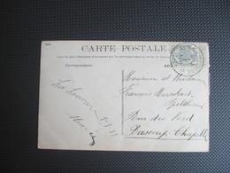 """81 - PK """"1 Januari"""" - Verstuurd Uit La Louvière 2 Naar Bascoup-Chapelle - 1893-1907 Wapenschild"""