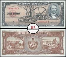 Cuba | 10 Pesos | 1960 | P.88c | J 898560A | UNC - Cuba