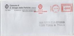 Tematica Comuni D'Italia: Affrancatura Meccanica Rossa Comune Di San Giorgio Delle Pertiche (Padova) Su Busta 12.08.2000 - Affrancature Meccaniche Rosse (EMA)