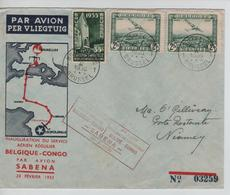 SJ137/ TPA 3(2)-386 S/L.Avion Sabena Vol Belgique-Congo C.BXL 23/2/1935 > Niamey Niger C.d'arrivée - Airmail