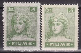 FIUME 1919 - ALLEGORIE E VEDUTE - Sass.B34 + C34 MNH** VF - Udine