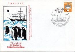 """(DDR-B2) DDR Sonderumschlag """"75 Jahre II. Deutsche Südpolarexpedition"""" EF Mi 2832 SSt 7.5.86 ERFURT 1 - Antarktis-Expeditionen"""