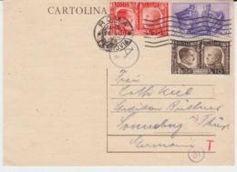 USED CARTE POSTALE 27/07/1941 ROMA FERROVIA - 1900-44 Victor Emmanuel III