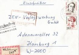 ! 1 Einschreiben 1992 Mit Alter Postleitzahl + DDR R-Zettel  Aus 8301 Pirna, Sachsen - Briefe U. Dokumente