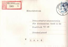 ! 1 Einschreiben 1993 Mit Alter Postleitzahl + DDR R-Zettel  Aus 8351 Stolpen, Sachsen - Briefe U. Dokumente