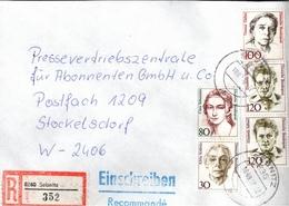! 1 Einschreiben 1992 Mit Alter Postleitzahl + DDR R-Zettel  Aus 8360 Sebnitz, Sachsen - Storia Postale