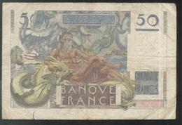 Billet 50 Francs France Le Verrier 1-2-1951 H - Etat Moyen - 1871-1952 Antiguos Francos Circulantes En El XX Siglo