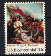 STATI UNITI - 1975 - BICENTENARIO DELL'INDIPENDENZA: BATTAGLIDI BUNKER HILL - MNH - Estados Unidos