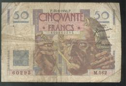 Billet 50 Francs France Le Verrier 24-8-1950 F - Etat Moyen - 1871-1952 Circulated During XXth