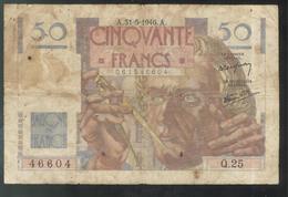 Billet 50 Francs France Le Verrier 31-5-1946 A - Etat Moyen - 1871-1952 Circulated During XXth