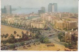 °°° 13409 - INDIA - BOMBAY - PANORAMIC VIEW CHURCGATE BUILDINGS - 1973 With Stamps °°° - India