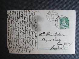 110 Pellens - PK(beschadigd) -  Verstuurd Uit Mons Naar Lombise (sterstempel) - 1912 Pellens