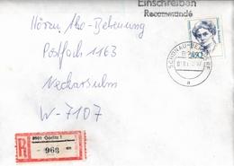 ! 1 Einschreiben 1992 Mit Alter Postleitzahl + DDR R-Zettel  Aus 8901 Görlitz, Poststempel Schönau-Berzdorf, Sachsen - Briefe U. Dokumente
