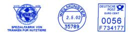 Freistempel 5125 Spezialfabrik Für Tränken Für Nutztiere - BRD