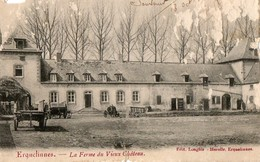 Belgique. CPA. ERQUELINNES.  La Ferme Du Vieux Chateau.  (carte Abimée.)  1906. - Erquelinnes