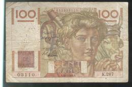 Billet 100 Francs France Jeune Paysan 15-7-1948 R Etat Moyen - 1871-1952 Antichi Franchi Circolanti Nel XX Secolo